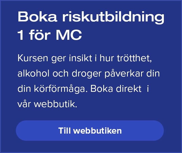 Boka riskutbildning 1 för MC